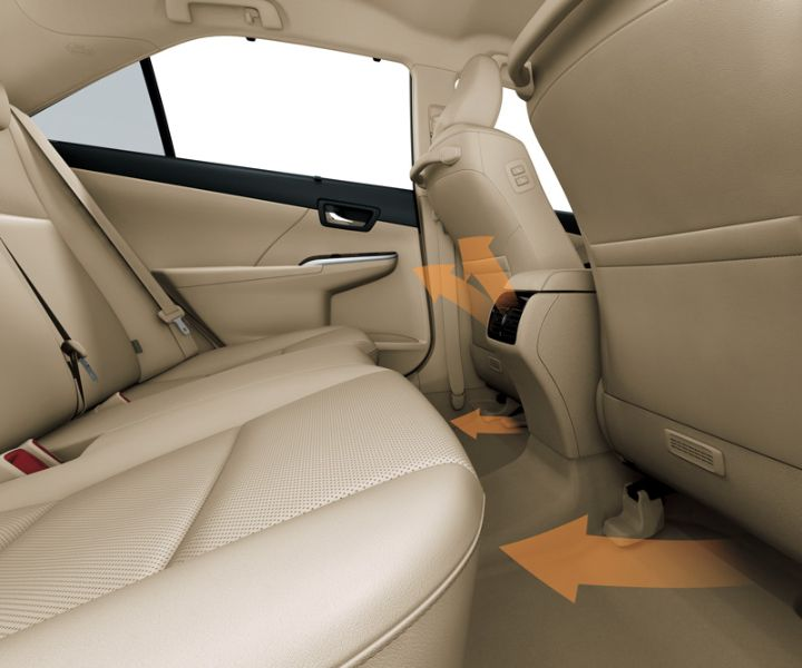 Toyota All New Camry type V -  back seat AC flow - The Future Sedan - Auto2000