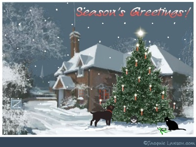 Jacquie Lawson Christmas cards. You've gotta check out the site and watch this card and others.