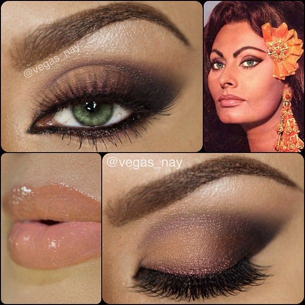 .@vegas_nay | Steps to previous post for *Sophia Loren* Inspired Makeup using the @Jay Burberry...