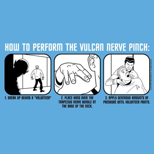 How to perform the Vulcan Nerve Pinch. could be very handy sometimes