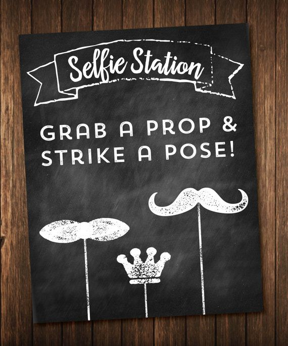 chalkboard wedding selfie station hashtag photobooth sign etsy wedding posters pinterest. Black Bedroom Furniture Sets. Home Design Ideas