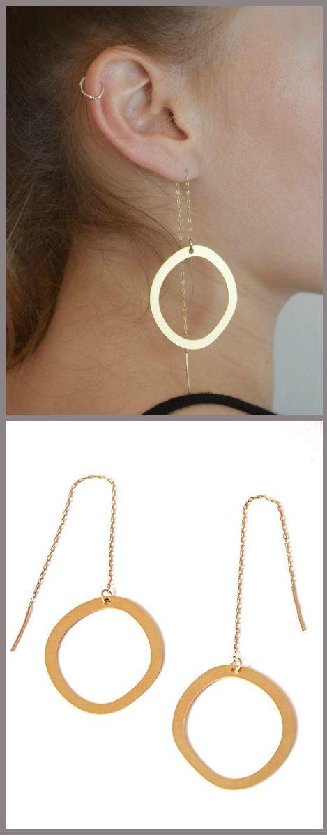 Gold Hoop Threaders