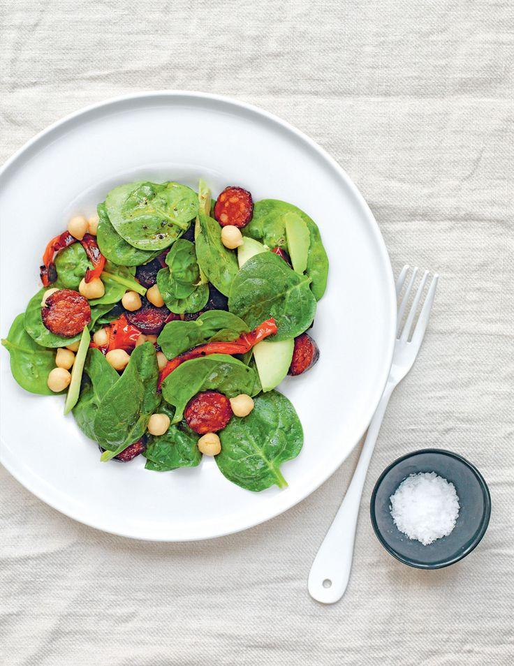 Chorizo, avocado & chickpeas with sherry dressing recipe from Grains  | Cooked.com