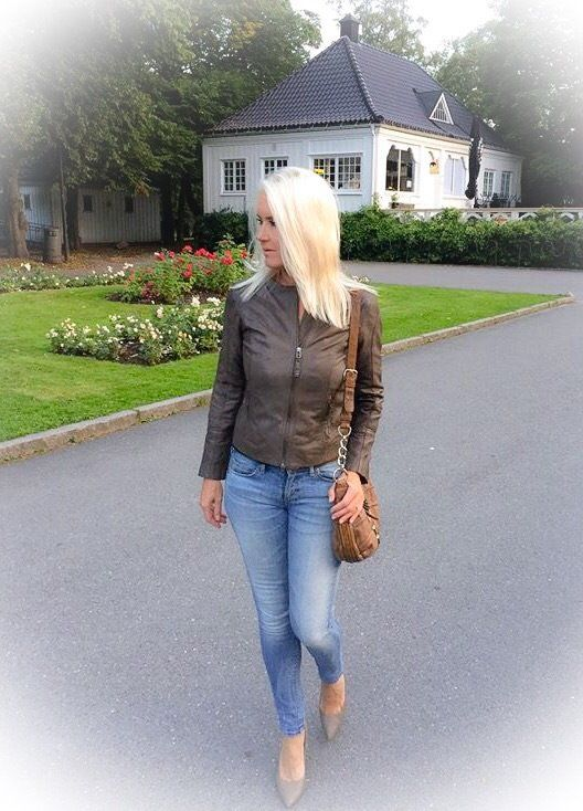 Hot leather jacket this fall!