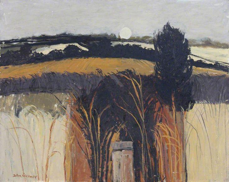 Orange Field  by John Scorror O'Connor  Oil on canvas, 61 x 76 cm  Collection: Clare College, University of Cambridge
