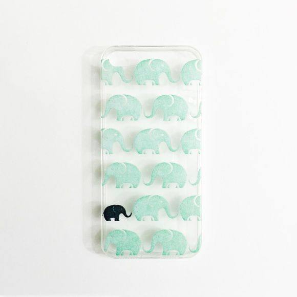 Green Elephant iPhone SE & 5 & 5S Case Fits the iPhone SE & 5 & 5S • Less than 1mm thick • Flexible case • Transparent with PIXELATED mint elephant print • Covers metal part only • No lip • doesn't cover screen at all • Photos are photographed by me, don't use • item's color can vary slightly from photos • NO OFFERS + NO TRADES Accessories Phone Cases