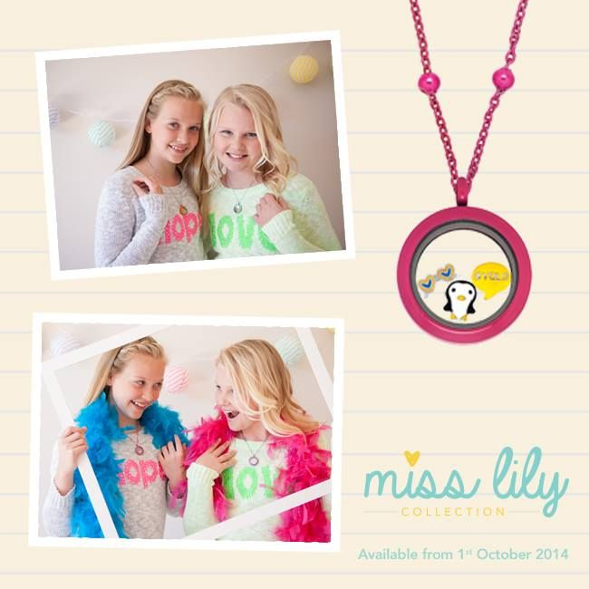 Introducing... Miss Lily Collection <3 Available from 1st October 2014 #LilyAnneDesigns #PersonalisedLockets #CapturingMoments #FreeToBeMe #MissLilyCollection #TweenLockets