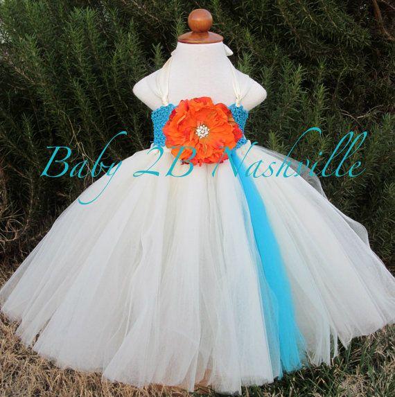 Beach Flower Girl Dress  Wedding Flower Girl by Baby2BNashville, $85.00