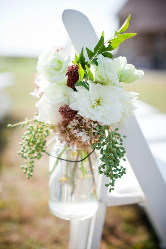 mason jar aisle decor wedding-inspiration