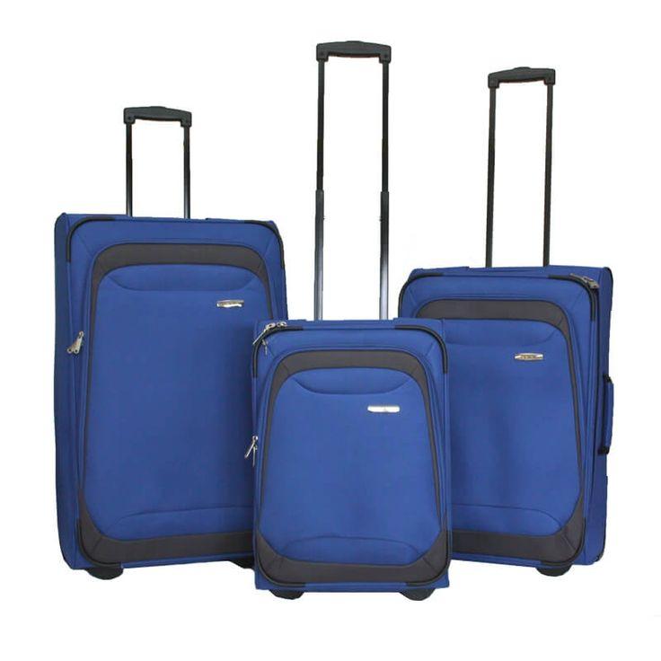 Zestaw walizek Travelite Portofino niebieski