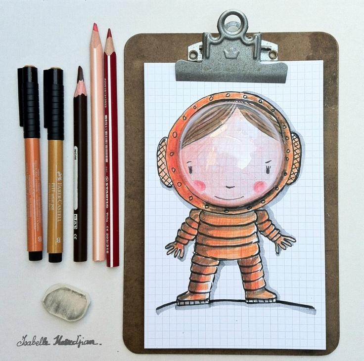 Isabelle Kessedjian: Illustration. she is so amazingly talented!