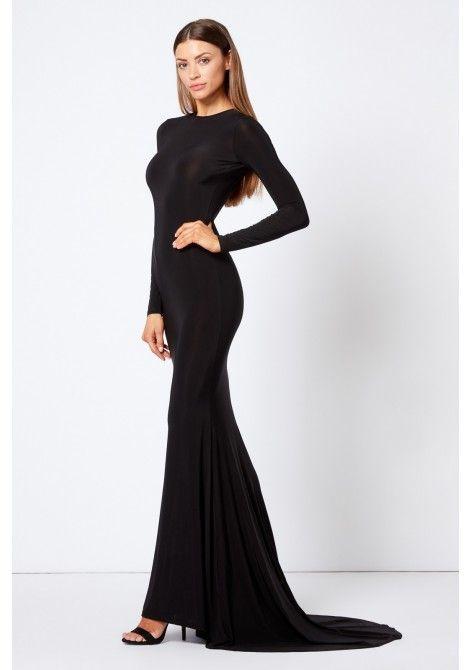 db33dfb67dd Club L London Backless Fishtail Maxi Dress in Black in 2019 ...
