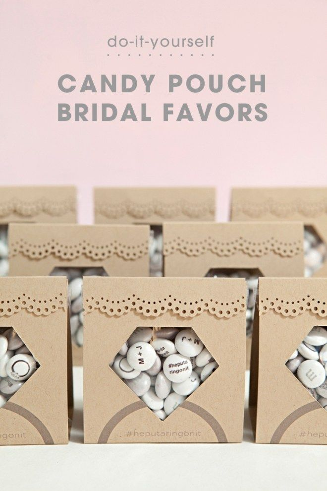 """Make these adorable DIY """"diamond candy pouch"""" favors!"""