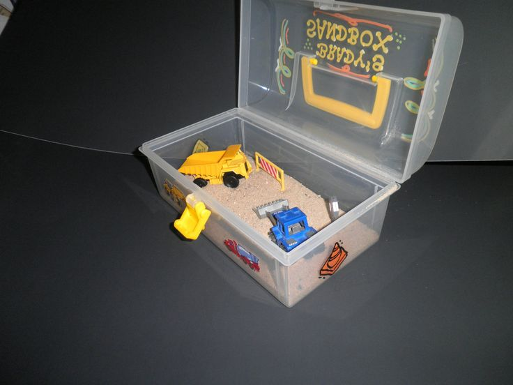 Trucks Little Boy Sand Toy Portable Activity Kit Construction Birthday Gift Sandbox  Truck. $14.99, via Etsy.