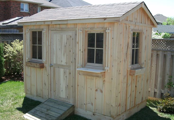 6ft x 8ft Pine board and batten shed by Flamborough Patio