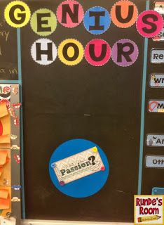The Genius Hour for Pursuing Passion Projects Corkboard Connections: Bring Some Passion Into Your Classroom!