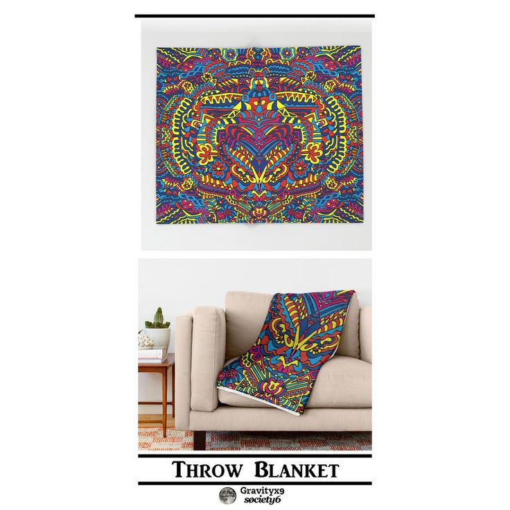 * Groovy Doodle Colorful Art Throw Blanket by #Gravityx9 ...