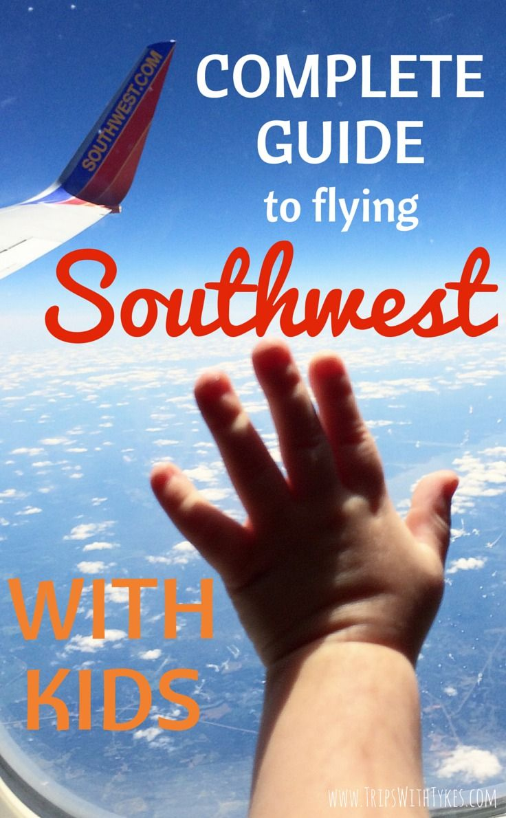The Complete Guide to Flying Southwest With Kids: All the tips and tricks you need for your next family flight aboard Southwest Airlines.