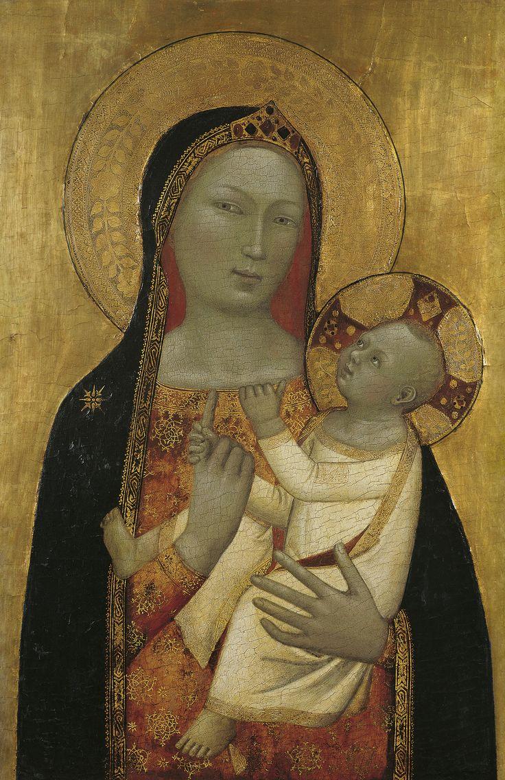 """Many are the women of proven worth,but you have excelled them all."" Proverbs 31:29 // The Virgin and Child / La Virgen con el Niño // ca. 1340 - 1345 // Bernardo Daddi // © Thyssen-Bornemisza Museum"