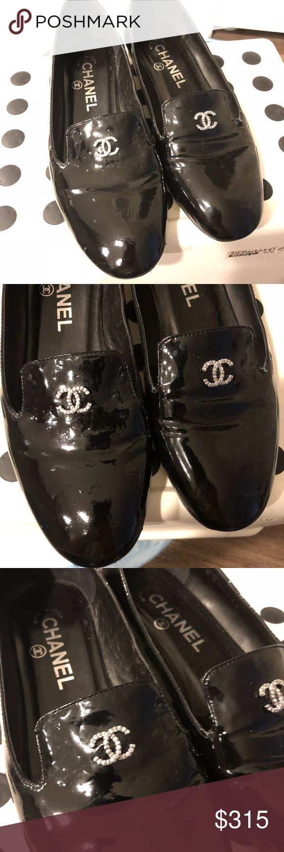💥LAST PRICE💥Chanel loafers with pearls on heels 0.5 inch. The right one was bit by my puppy minor signs. Not noticeable in person. Welcome to bring them home CHANEL Shoes Flats & Loafers