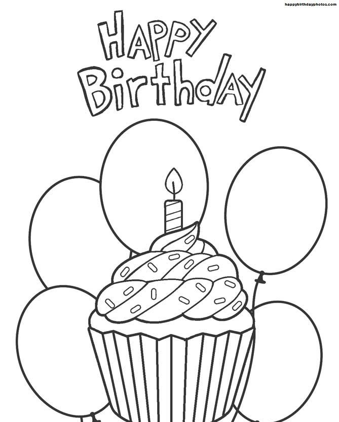 Happybirthdaycoloringpages Happy Birthday Coloring Pages Cupcake Coloring Pages Happy Birthday Drawings