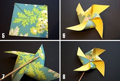 Fabric Pinwheel Tutorial - in case we can't find paper with right colors and can find fabric