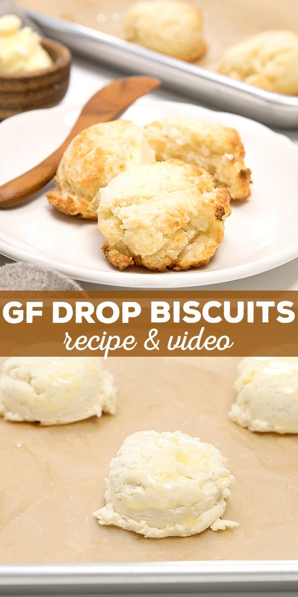 Easy 20-Minute Gluten Free Drop Biscuits with recipe video. Tender, light and FAST!