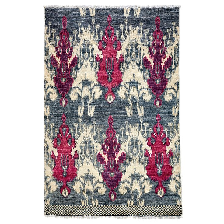 Darya Rugs Ikat, Hand Knotted