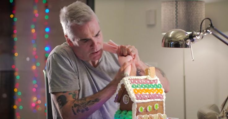 Henry Rollins Decorating And Destroying A Gingerbread House Is What The Holidays Are About