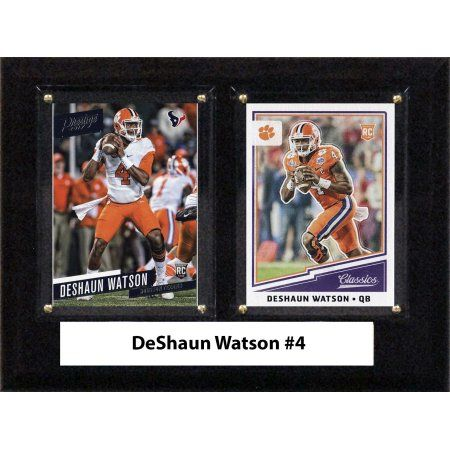 Ncaa 6 inchX8 inch DeShaun Watson Clemson Tigers Two Card Plaque