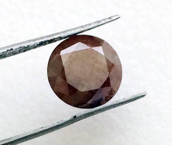 6.5mm Huge Brown Brilliant Cut Round Diamond 1.5 Cts Brown
