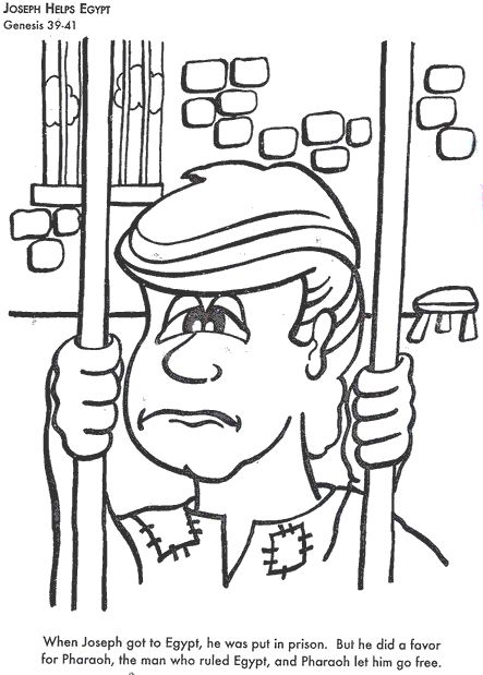 BIBLE COLORING PAGES Joseph Helps Egypt