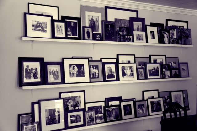 "My father always said ""Never hang a photograph on the wall. Terribly common"" So I lent them against the wall."