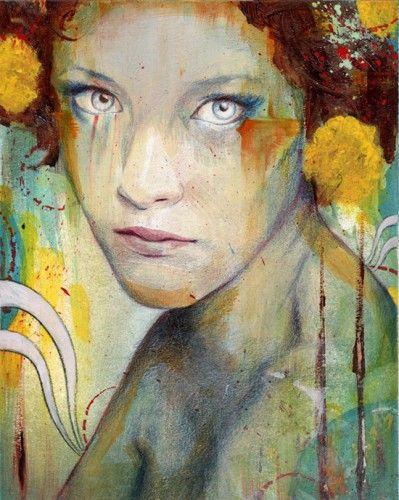 Muse of Indignation (art work titled Dahlia by Michael Shapcott)