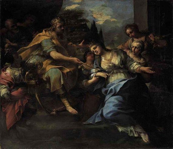 Raffaello Vanni - Esther before Ahasuerus. Raffaello Ванни. Эсфирь перед AHASUERUS.