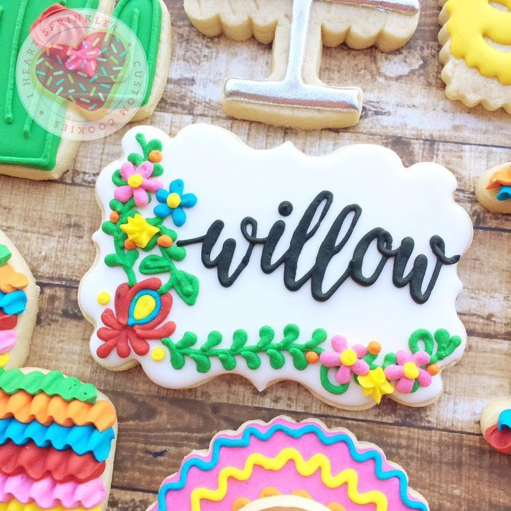 Cinco de Mayo Fiesta Birthday Party Sugar Cookies TheIcedSugarCookie.com I Heart Sprinkles Cookies