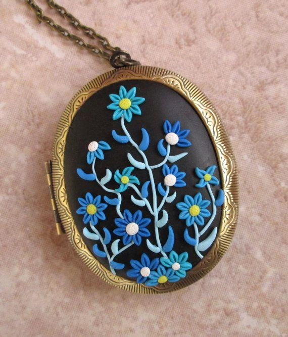 romantic wife gift locket gift for mom flower jewelry unique by FloralFantasyDreams on Etsy