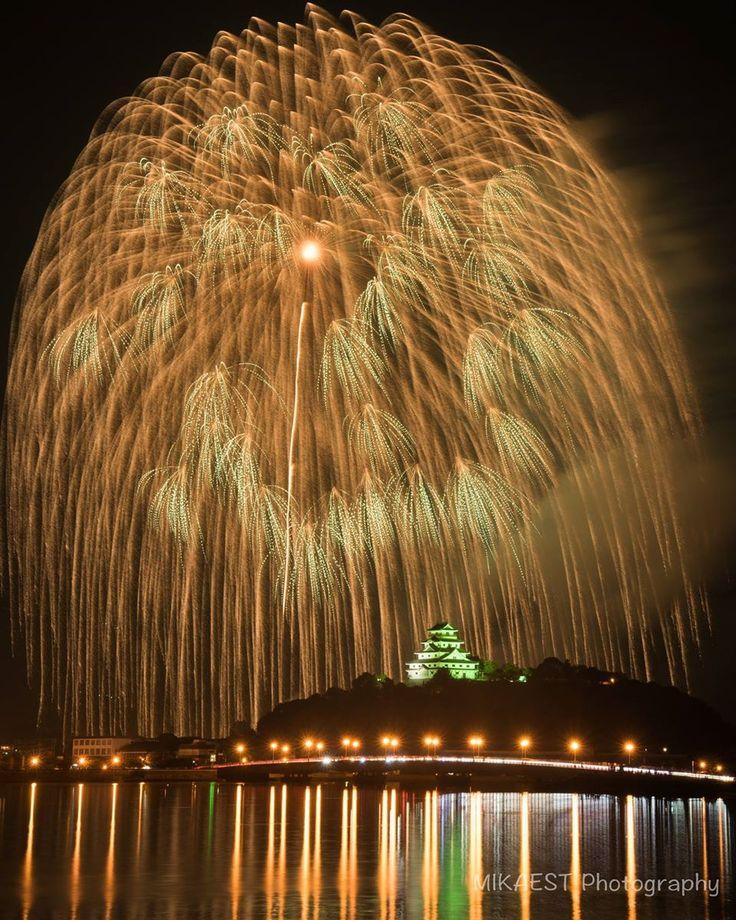 Fireworks over the Karatsu Castle, Saga, Japan, Photo by Mika Tashiro 2016/7/17