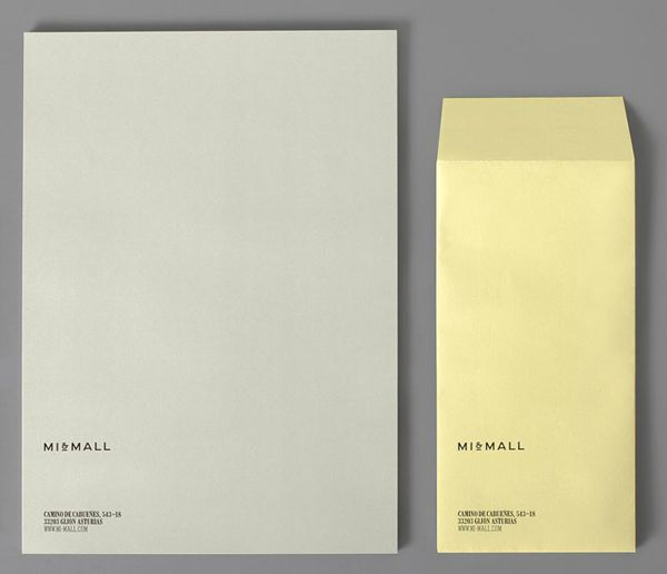 Logo and letterpress stationery design by Atipo for Mi&Mall