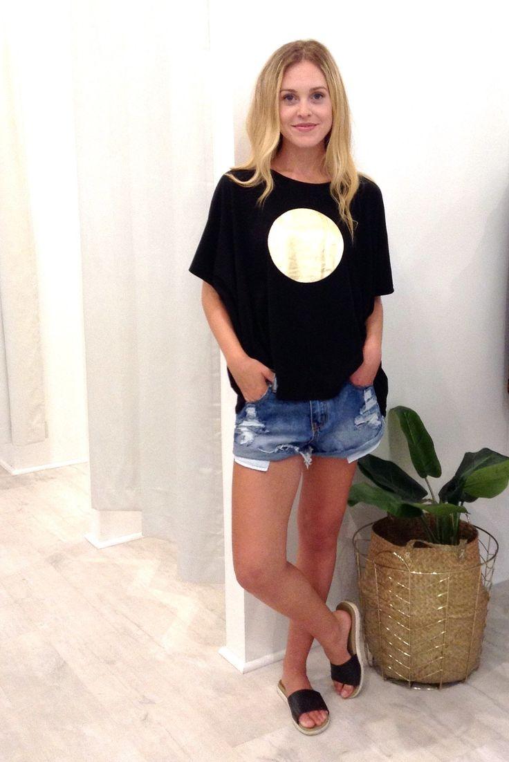 Eb & Ive - Paama Tshirt- Black/Gold