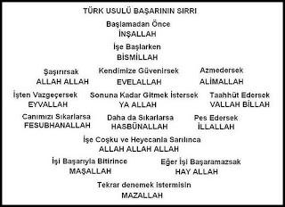 Türk Usulü Başarının Sırrı - Özlü Sözler   Güzel Sözler   Anlamlı Sözler