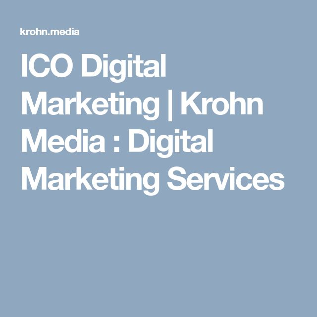 ICO Digital Marketing | Krohn Media : Digital Marketing Services
