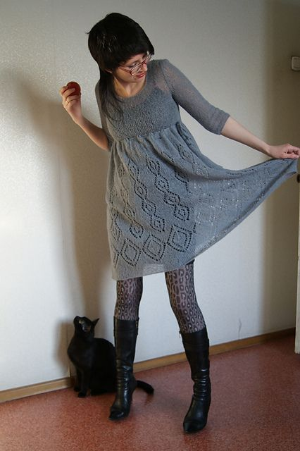 Made of Lang Yarns Alpaca Superlight 5-6 skeins! http://www.ravelry.com/projects/KotCheshirskiy/19-kleid-mit-lochmuster