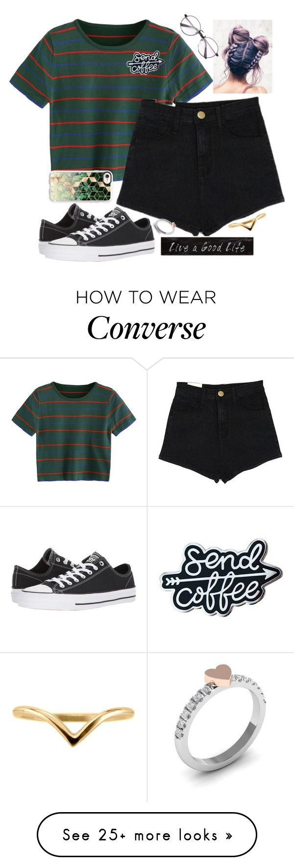 """""""Untitled #2254"""" by tokyoghoul1 on Polyvore featuring Converse, Casetify and 3R Studios"""