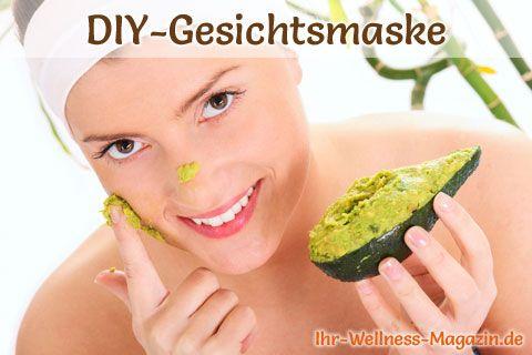 DIY-Gesichtsmaske mit Avocado zur Pflege von trockener Haut