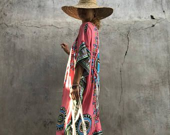 Etnische Kaftan, jurk, Boheemse, hipppie, festival, oversized, lange jurk, badplaats slijtage, plus grootte, caftan boho, luxe