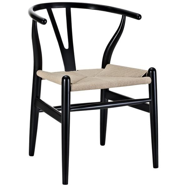 Designed in 1949 by Denmark's foremost furniture designer Hans Wegner, the original Wishbone Chair was inspired by classical portraits of Danish merchants sitti