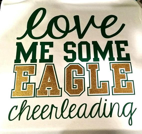 This listing is for a Custom made Love me some Cheerleading shrit by The Walnut Street Made with your mascot/team name in your team colors.