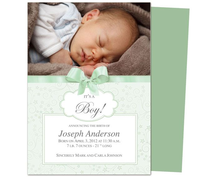 Best Baby Birth Announcement Templates Images On