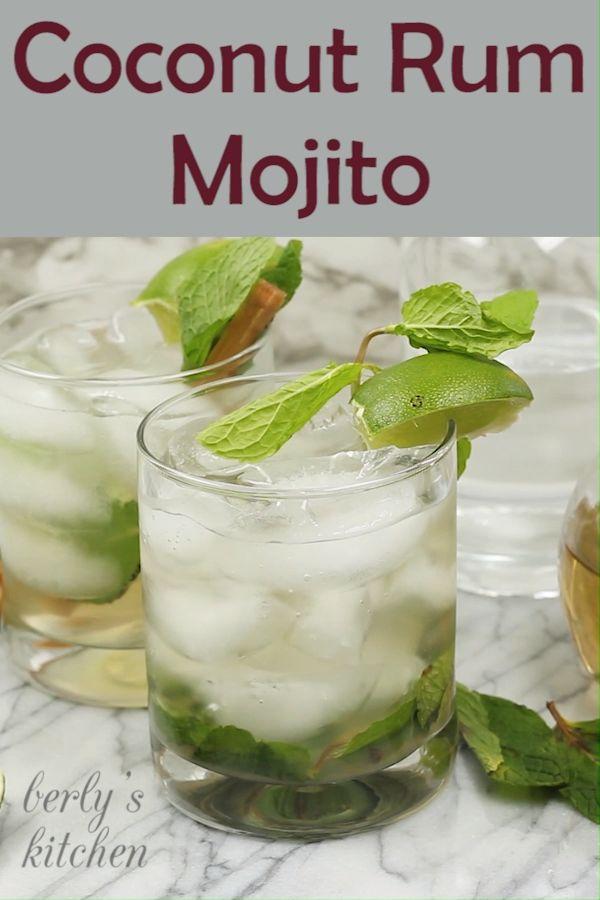 Coconut Rum Mojito   – Berly's Kitchen Food Videos